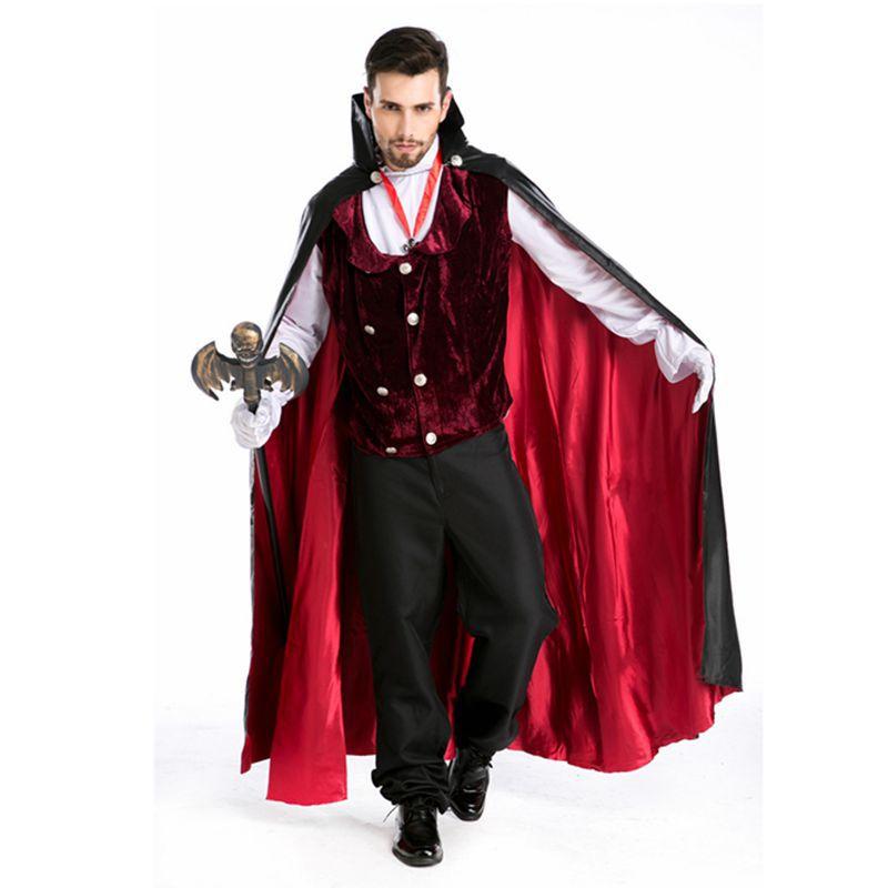 hombres traje de halloween para hombres vestido victoriano gtico del vampiro del traje disfraces de halloween
