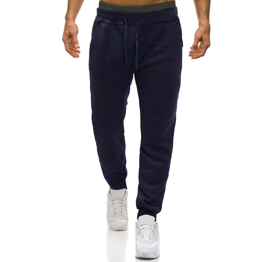 Jogging pants casual man makes winter thick and soft breathable sweatpants