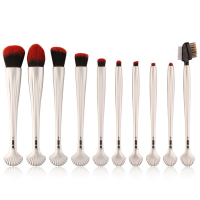 Pro 10Pcs Makeup Brushes Set Comestic Powder Foundation Blush Eyeshadow Eyeliner Lip Beauty Make Up Brush