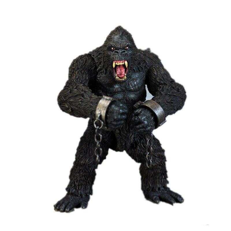 Original King Kong: Skull Island Double-headed Common Chimpanzee Statue PVC Action Figure Model For Desktop Decoration X266