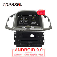 TOPBSNA 1 DIN Android 9.0 Car DVD Player For Chevrolet Captiva 2006 2015 GPS Navigation Autoradio WIFI Mirror link Stereo TMPS