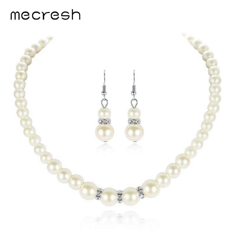 Mecresh προσομοιωμένη μαργαριτάρι - Κοσμήματα μόδας - Φωτογραφία 6