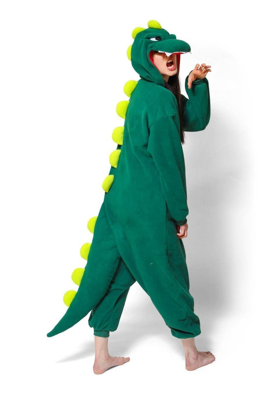 Unisex Fleece Adult Dinosaur Onesies Animal Cosplay Costume Halloween Xmas Pajama