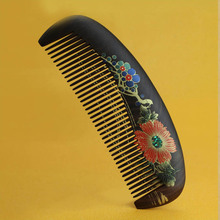 hight quality Real Ebony black comb 1 piece Health Care Hair Styling Tools hair brushes best gift