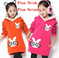 New Brand 2016 Winter Children's Clothing Kids Girl Outerwear & Coats Casual Sweatshirt & Hoodies Girls Cute Coats Thick Jacket