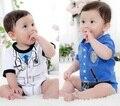 Baby Boy Боди Сотрудник Доктор Костюмы Смокинг костюмы тела ВЫСОКОЕ КАЧЕСТВО Розничная Образец