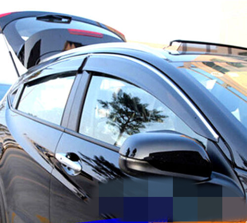 FIT FOR 14- HONDA HR-V VEZEL SIDE WINDOW RAIN DEFLECTORS GUARD VISORFIT FOR 14- HONDA HR-V VEZEL SIDE WINDOW RAIN DEFLECTORS GUARD VISOR