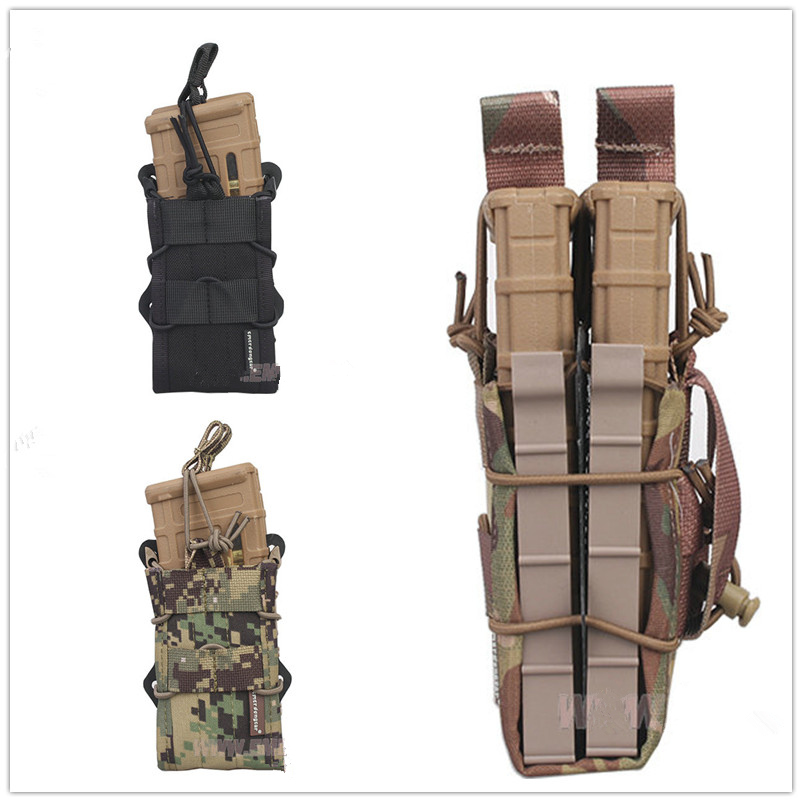 2017 NEW EMERSON Double Modular Rifle Magazine Pouch Airsoft hunting Utility MOLLE MAG Digital desert EM6035