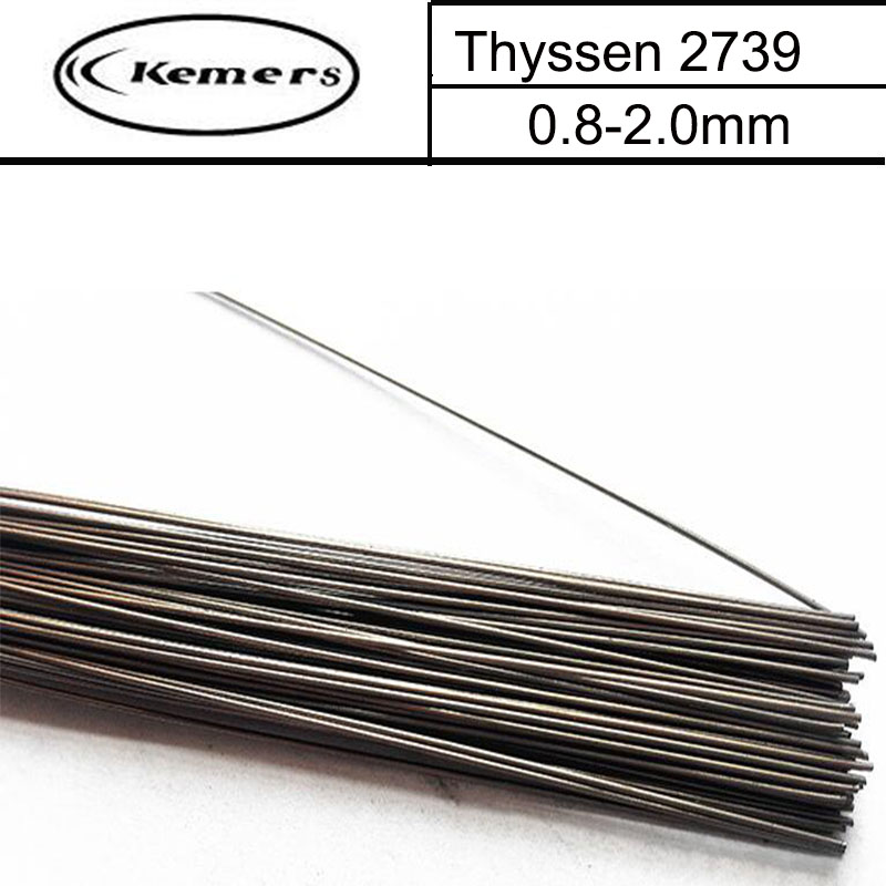 1KG/Pack Kemers Thyssen Mould welding wire 2739 for Welders (0.8/1.0/1.2//2.0mm) T012008 professional welding wire feeder 24v wire feed assembly 0 8 1 0mm 03 04 detault wire feeder mig mag welding machine ssj 18