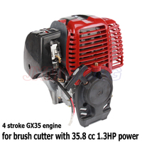 Four stroke GX35 engine 4 stroke Gasoline engine for brush cutter with 35.8 cc 1.3HP power