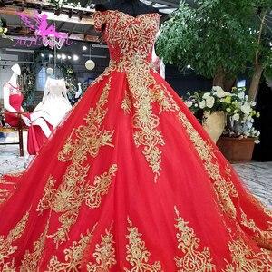 Image 5 - AIJINGYU robes de mariée à manches longues en dentelle et Tulle robes de mariée musulmanes avec prix 3 en 1 porter robe de mariée de grande taille corée