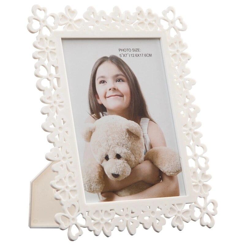 Hohl Design Familie Kinder Baby Foto Rahmen, Desktop Weiß Bild Rahmen, hochzeit Fotos Halter für Home Decor Geschenk porta retrato