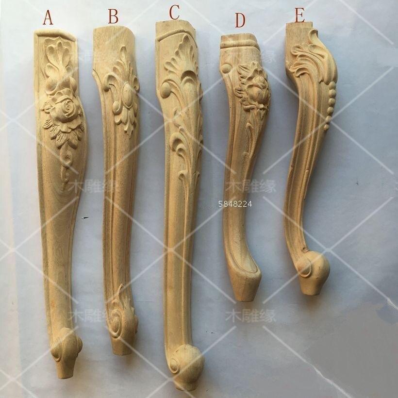 Premintehdw Solid Wood Carved Furniture Leg Legs Feet Stool Bar Dressing Make-up