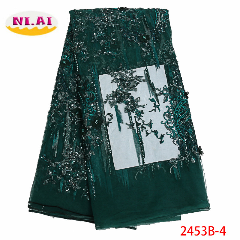 2019 Latest Nigerian Laces Fabrics High Quality Tulle African Laces Fabric Wedding French Tulle Lace Material