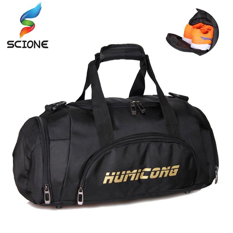 2018 Hot Large Capacity Sports Gym Bag Men Women Independent Shoes Storage  Training Handbag Waterproof Outdoor b02c463af9acf