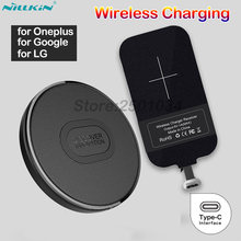 Nillkin Mini Qi Wireless Charger+USB-C Type C Receiver Wireless Charging for Oneplus 5 5T 6 6T LG G6 V20 for Google Pixel 2 XL(China)