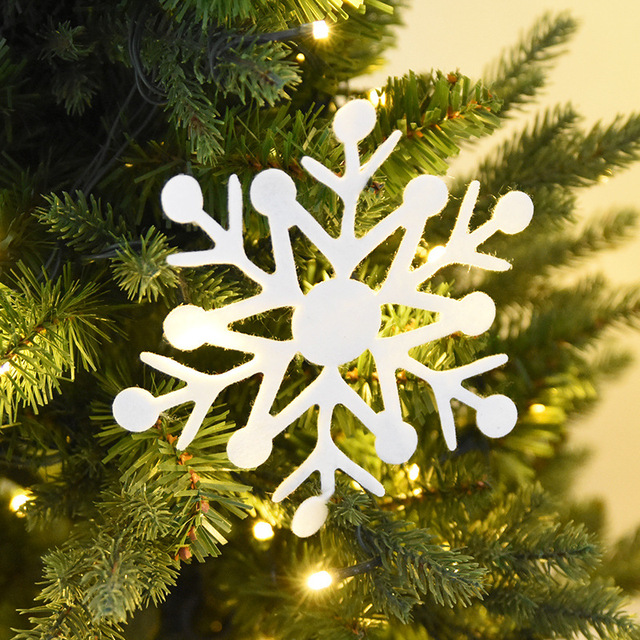 haochu 30pcs pure snowflake shape christmas tree decoration hanging drop ornaments shop window sticker display supplies