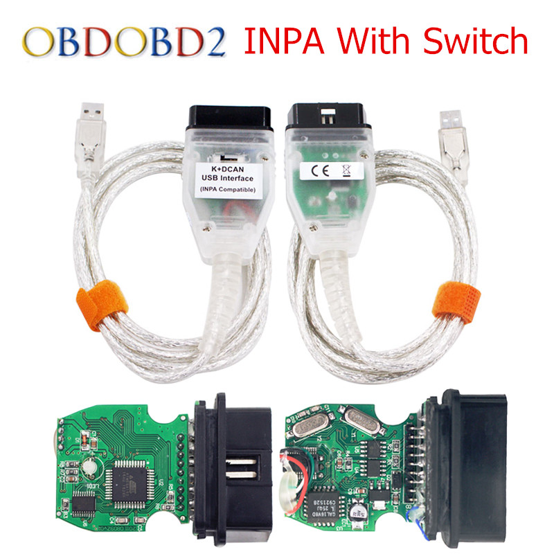 Best For BMW INPA K+CAN Cable INPA K+DCAN Switch USB Interface For BMW From 1998 To 2008 With K-LINE Protocol Free Ship