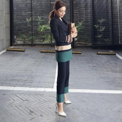 Oficina 1 Para Trabajo Pantalón Conjuntos Estilo Calidad Trajes Alta Elegantes Informal Larga Uniforme Formales Mujer De Sección Ropa TwYwq0f