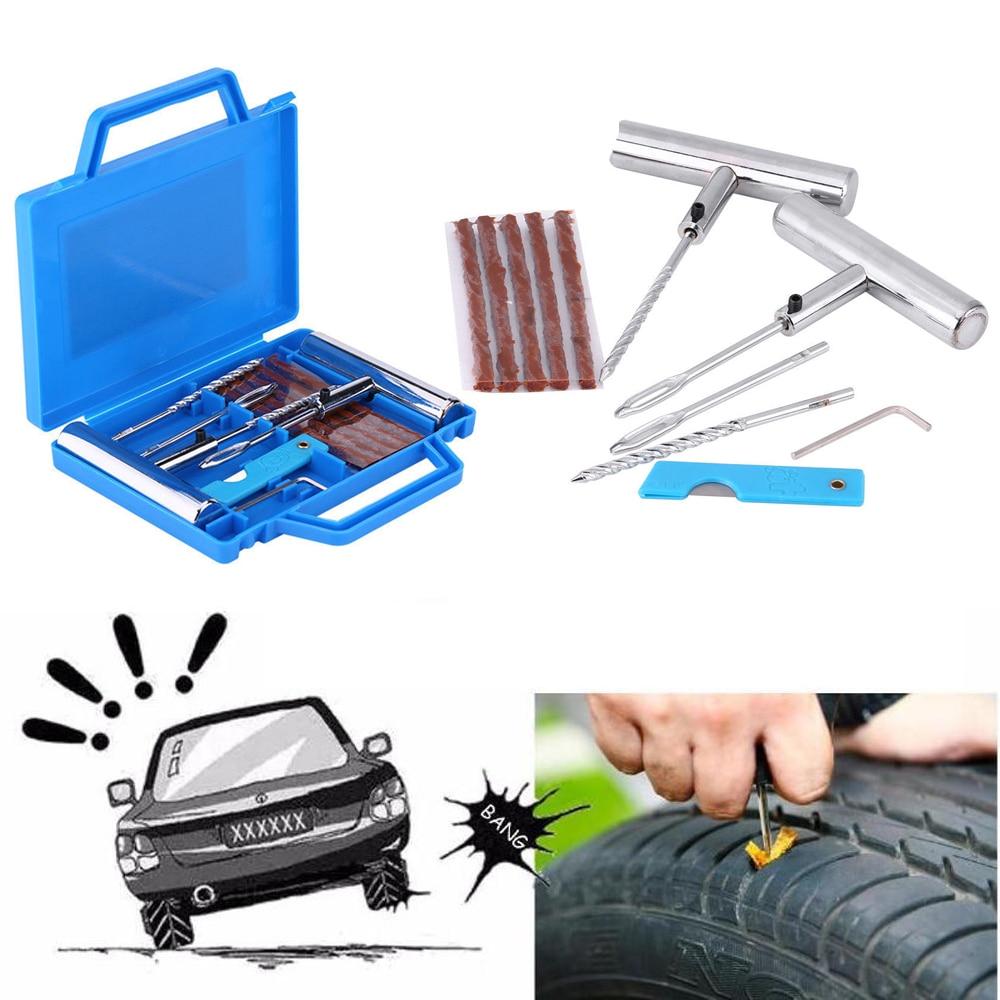 Auto Tire Repair Kit Car Van Motorcycle Bike Tire Repair Tools Emergency Heavy Duty Tubeless Tire Puncture Repair Kit Plug Se