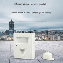 Infrared shop induction doorbell welcome device burglar alarm to the sensor
