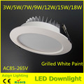Free shipping 3w-18w led downlight,high brightness ceiling recessed light,SMD5730 plafond lamps for home AC110V/220V/85-265V