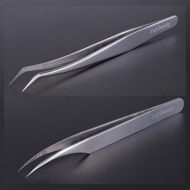 1pc Profession Stainless Eyebrow Tweezer Eyelash Flower Extension Beauty Makeup Tools High Precision Quality Tweezers CHU01-05 2