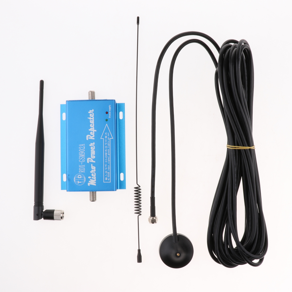 Protable Cell Phone Signal Booster Amplifier Repeater 900MHz For Home And Office GSM902 Support 2G 3G 4G Blue