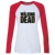 IDzn T-shirt Ocasional das Mulheres Moda Estilo Punk The Walking Dead Zombies Padrão Raglan Manga Longa Meninas camiseta de Algodão T topos