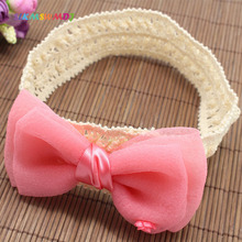 SLKMSWMDJ new baby hair band solid color cute headdress bow children accessories girls headwear 4 colors