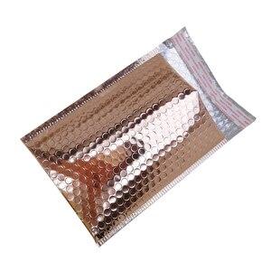 Image 2 - Oro rosa Bolla Avvolge, Metallic Rose Gold Bolla Foglio Mailer per Limballaggio del Regalo, Favore di Cerimonia Nuziale Del Sacchetto di Trasporto Libero