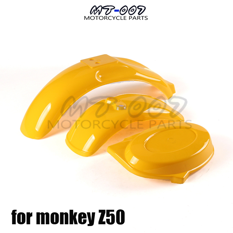 Front Rear Fender Guard with left fender For Honda Monkey Z50 Z50R 50J Z50 Gorilla Bike Motorcycle Parts deli korea creative book holder 2pcs set metal bookends decorative bookend cute animal book holder for reading support kid gifts