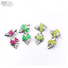 2016 Min order $10 Fashion korean shourouk crystal stud Earrings for women jewelry Factory Price