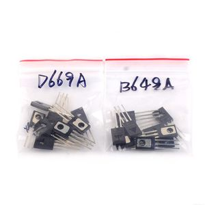 50 par (50 B649 + 50 D669) 2SB649AC 2SD669AC TO-126 2SB649 2SD669 PNP NPN epitaksjalnego obsługi Planar tranzystory
