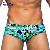 Taddlee מותג Mens לשחות בגדי ים ביקיני תחתוני הומו תחתונים בוקסר גזעי בגדי ים שחייה Surf Boardshorts ספורט גברים לשחות ללבוש