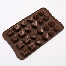 1PC Silicone Chocolate Mold 24 Lattice Baking Tools Non-stick Cake Jelly&Candy 3D Decoration DIY LB 369