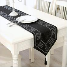 1 Pcs Flannel Table Runner 33*210 One Size Europe Style Black And Rain Stone  Suit Home Party Wedding Table Runner
