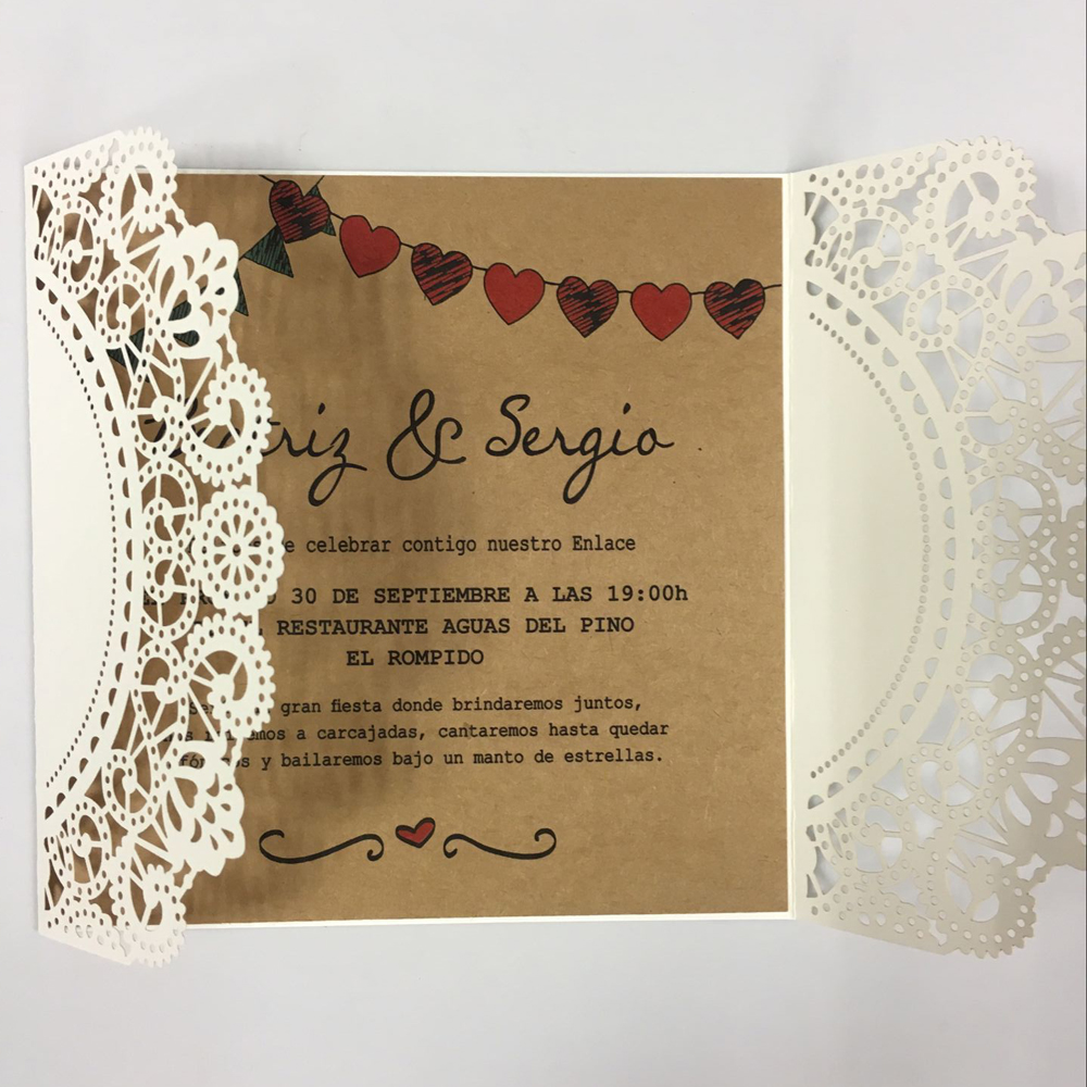 Wedding Invitations Vintage Invitation Sample, Kraft Paper Wedding Cards  Sample With Name Tag In Cards U0026 Invitations From Home U0026 Garden On  Aliexpress.com ...