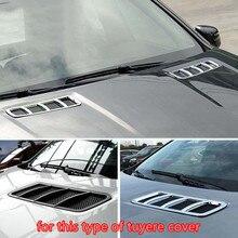 2 шт. автомобильный Стайлинг передний капот вентиляционное отверстие наклейка на розетку отделка ABS Хромированная Крышка для Mercedes Benz ML GL GLE W166 Coupe C29