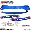 Autofab-epman racing polido subframe lower tie bar + combinação de braços de controle inferiores para ef eg civic ep-lab-por exemplo