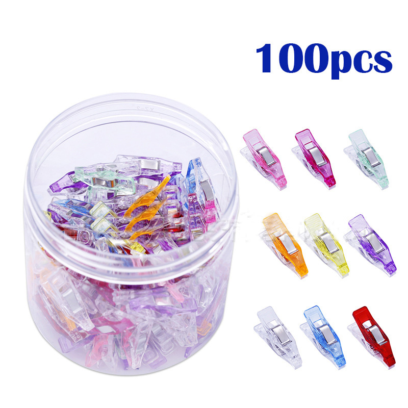 50/100 Pcs/set DIY Mixed Plastic Clips for Patchwork Fabric Quilting Craft Sewing Knitting Clips