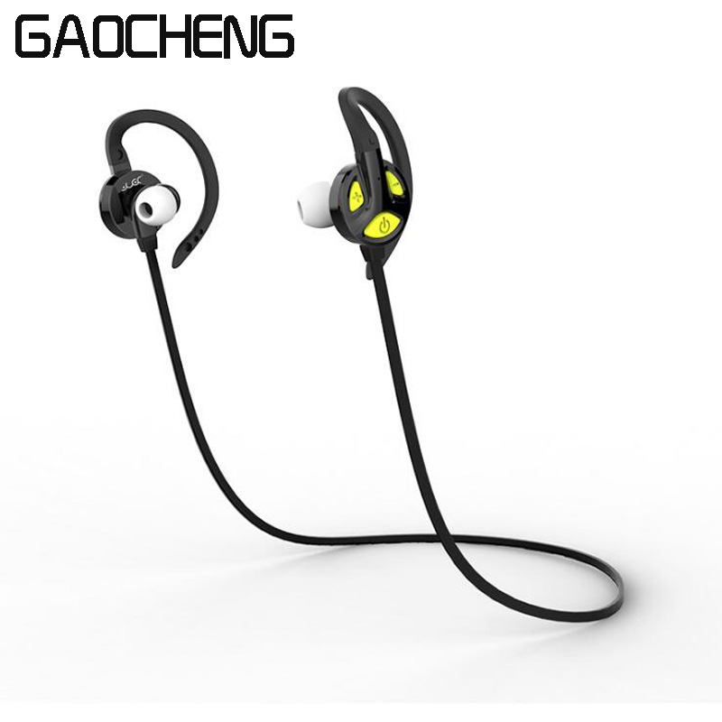 GAOCHENG Sports In-Ear Wireless Bluetooth Earphone Stereo Earbuds Headset Bass Earphones with Mic for IOS Android Samsung Phone