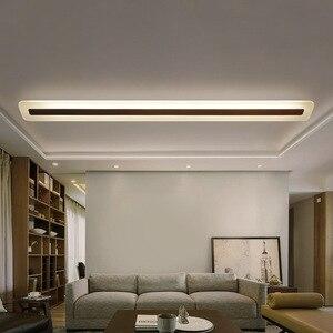 Image 2 - 220V פשוט מודרני LED תקרת מנורת מינימליזם תקרת אורות Creative סלון מסדרון אולם LED מנורה