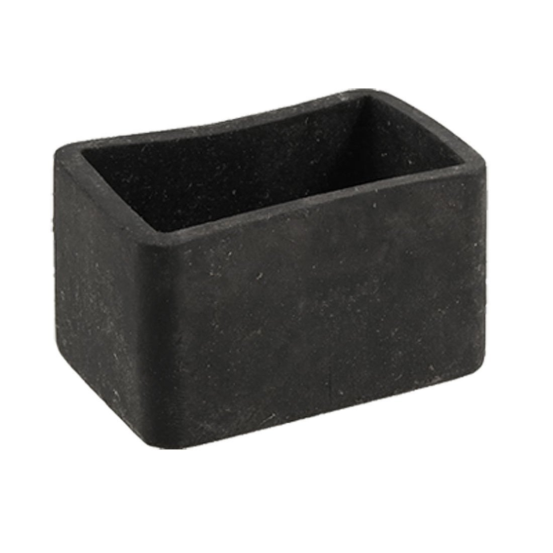 Table Chair Leg Black Rubber Rectangle 25mm X 38mm Protective Foot