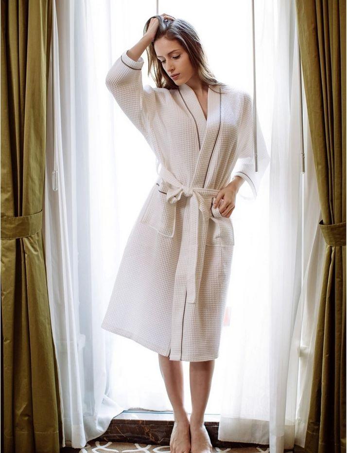 Women\'s Mid-Calf Cotton Sleep Lounge Robes RBS-D RB26 10
