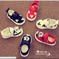 New 2016 Baby Shoes Canvas Baby Boy Girl First Walkers Cute Mickey Spring Casual Shoes #2923