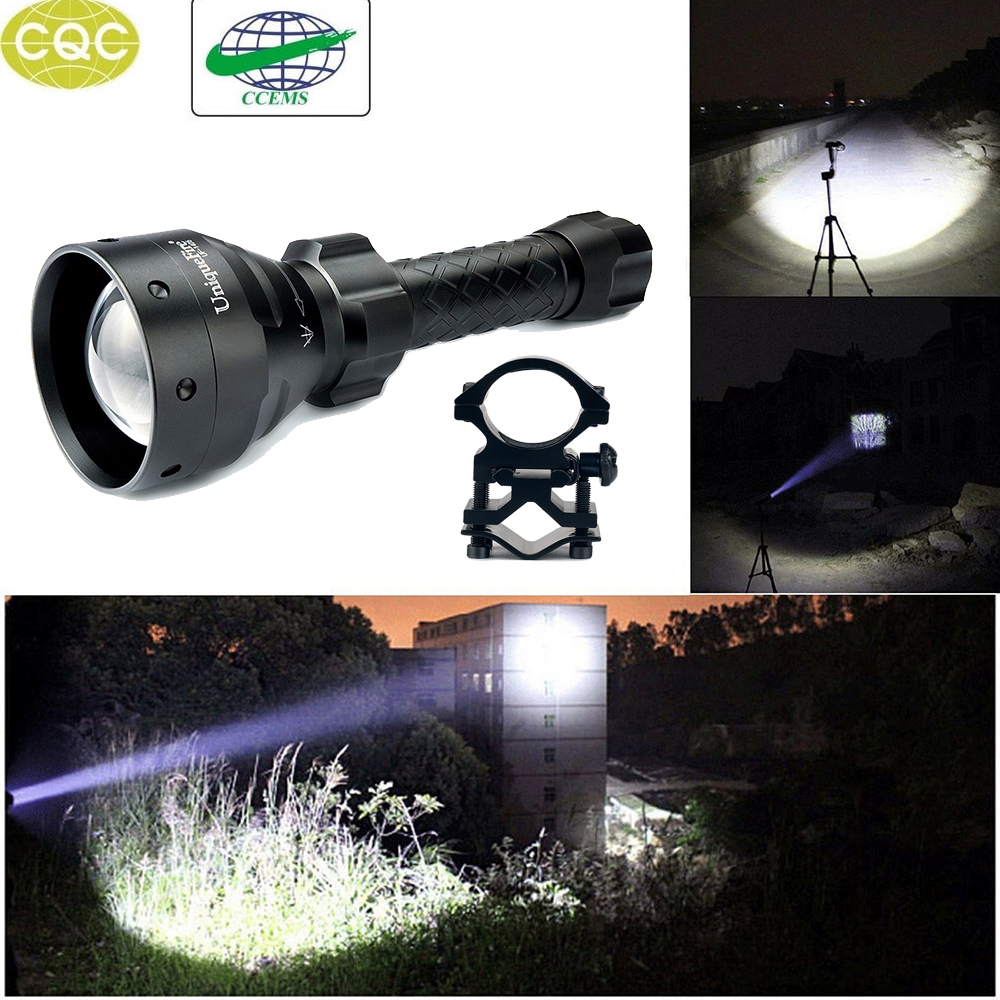 UniqueFire UF-1405 250 Lumens Portable LED Flashlight Cree XPE Aluminum Alloy 3Modes Adjustable Focus Lamp Torch+Scope Mount uniquefire uf 1405 cree xpe red white green led flashlight 18650 long distance torch 300 lm rechargeable battery gun mount