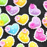 100pcs mix color big polka dot heart 30mm resin, flat back embellishment, hair bow supplies, headband scrapbooking D25