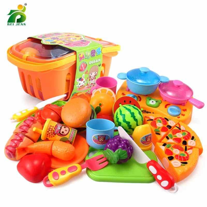 13-30 шт., ролевые игры, для приготовления пищи, для резки торта, овощей, набор для еды, детский игровой образовательный кухонный набор для детей, BEI JESS