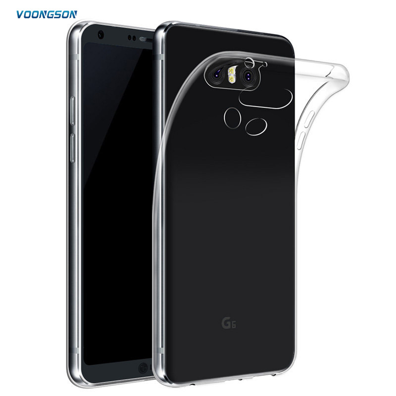 Galleria fotografica Ultra Thin Soft TPU Gel Original Transparent Case For LG G6 G 6 Crystal Clear Silicon Cover Transparent Phone Cases